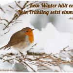 Der kleine Gartenphilosoph: Sprüche zum Nachdenken für den Januar