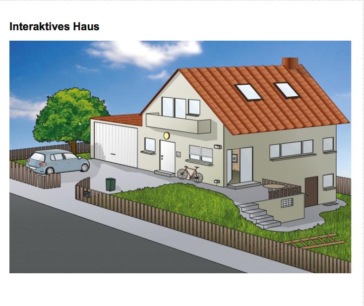 Das interaktive Haus zeigt deutlich die Schwachstellen, die sich Einbrecher zunutze machen. Quelle: Polizeiliche Kriminalprävention Stuttgart. http://www.k-einbruch.de/interaktiveshaus