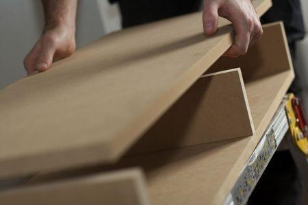 MDF - Mitteldichte Faserplatte aus Holz