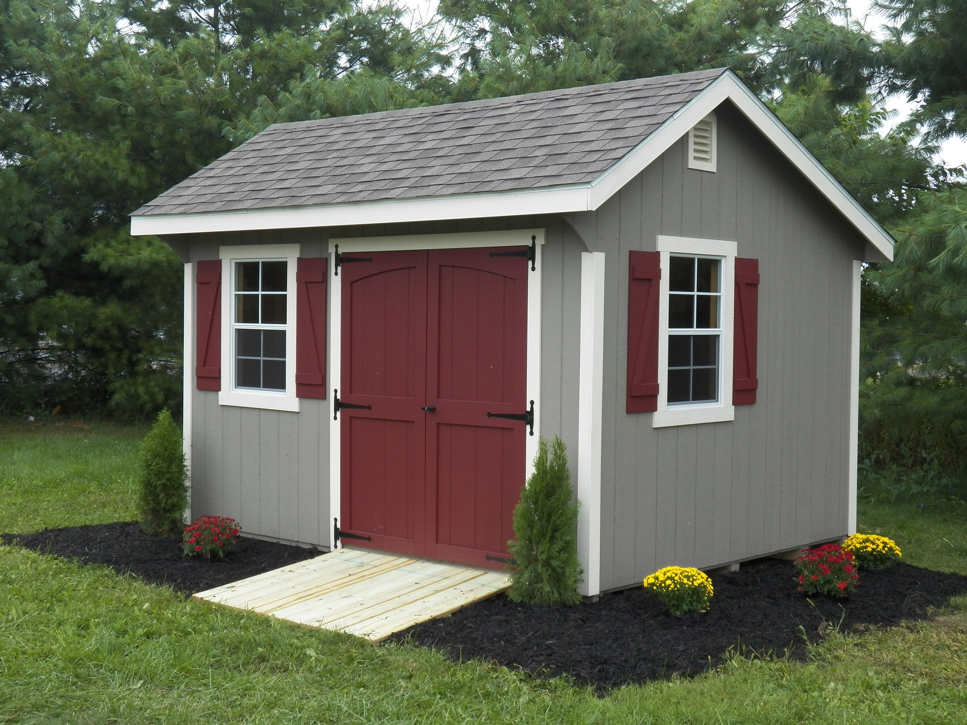 Painted Shed Doors
