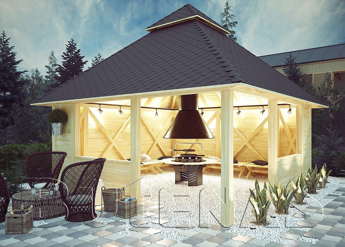 grillpavillon viola grillh tte oder carport allesk nner butenas. Black Bedroom Furniture Sets. Home Design Ideas