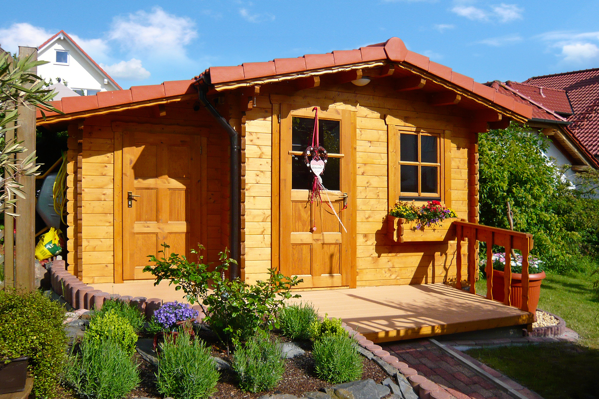 Gartenhaus mit Anbau NIDA A