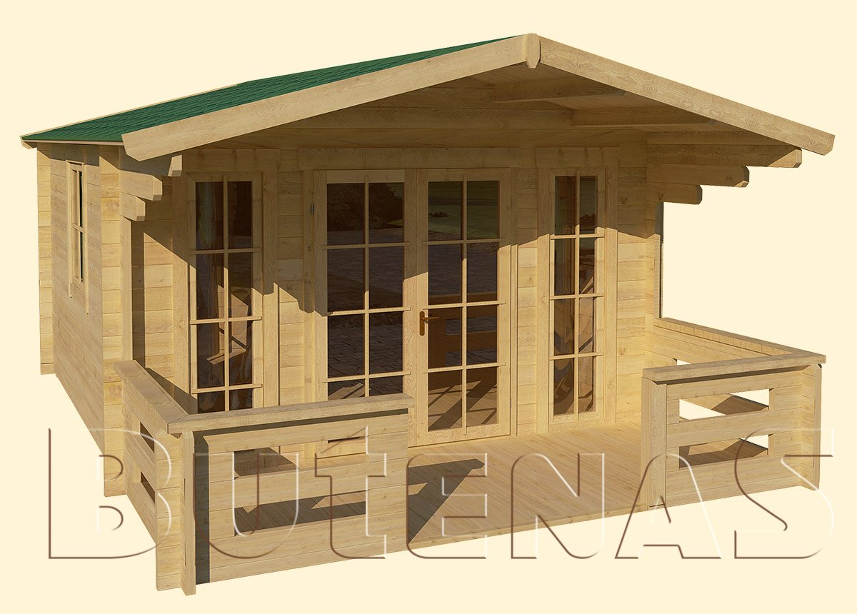 Gartenhaus ENZIAN - Typ S8
