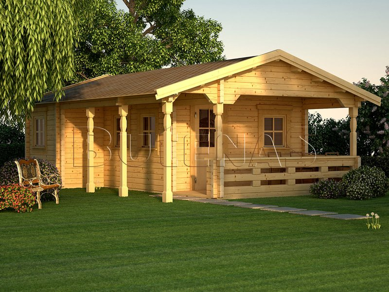 Sauna - Blockhaus-Sauna OSLO 38