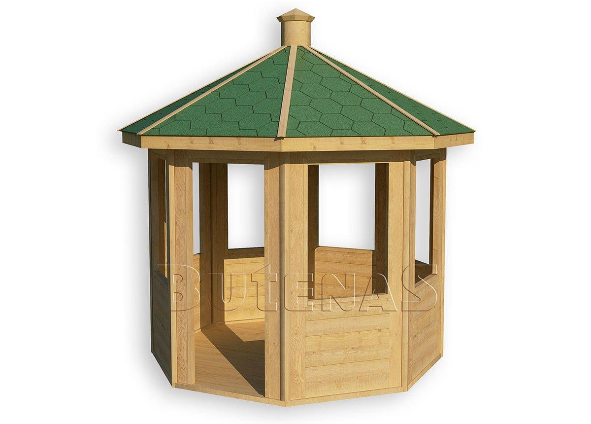Gartenpavillon IRIS - offen