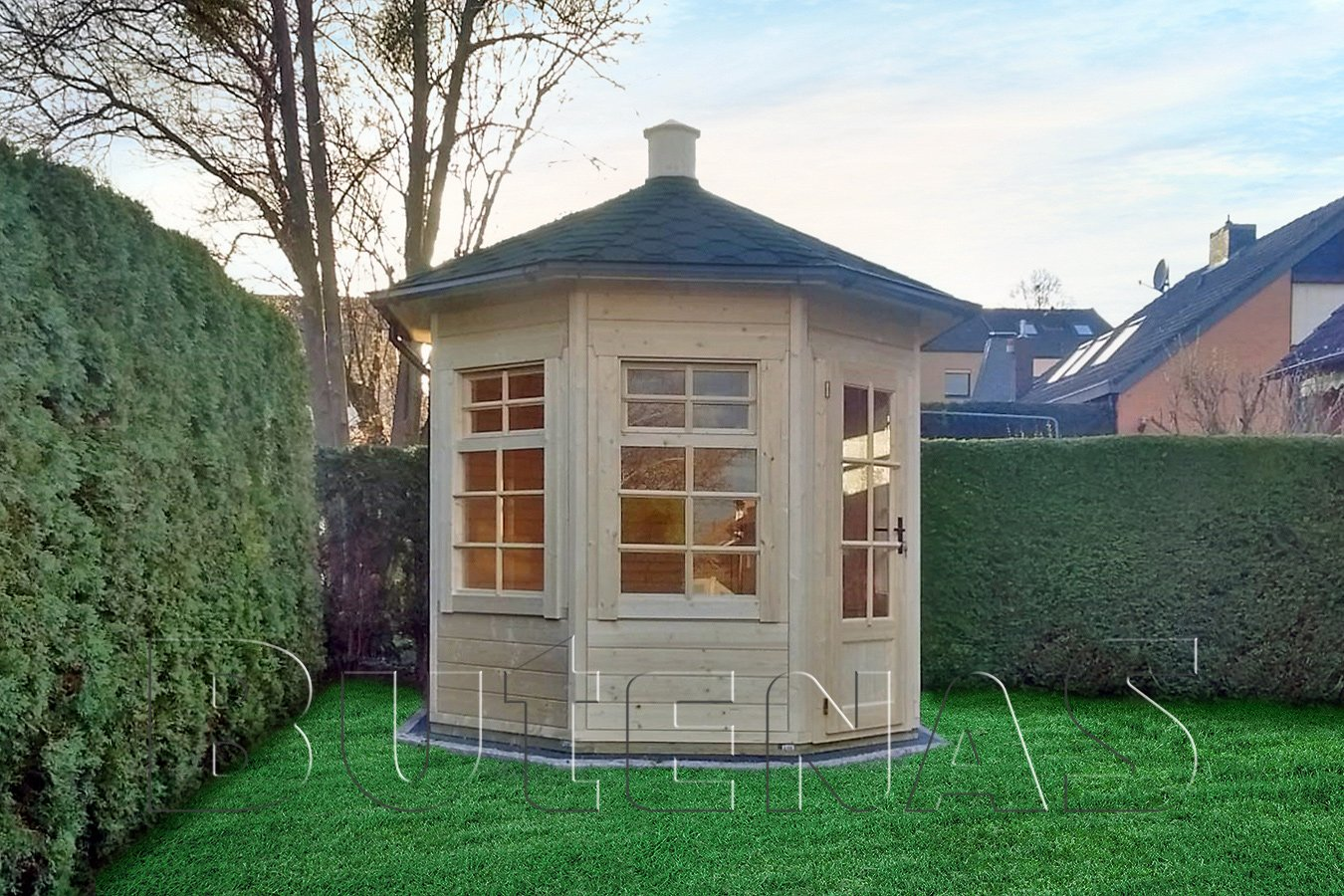 Gartenpavillon IRIS - geschlossen