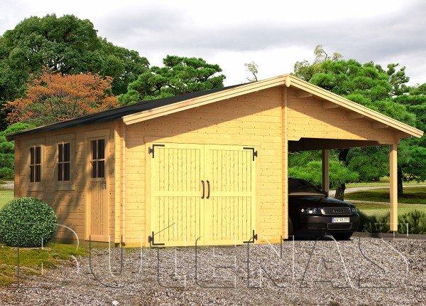Garage mit Carport KROKUS