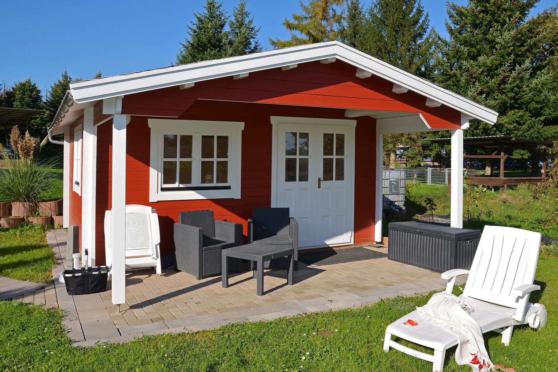 Gartenhaus mit Vordach NIDA V