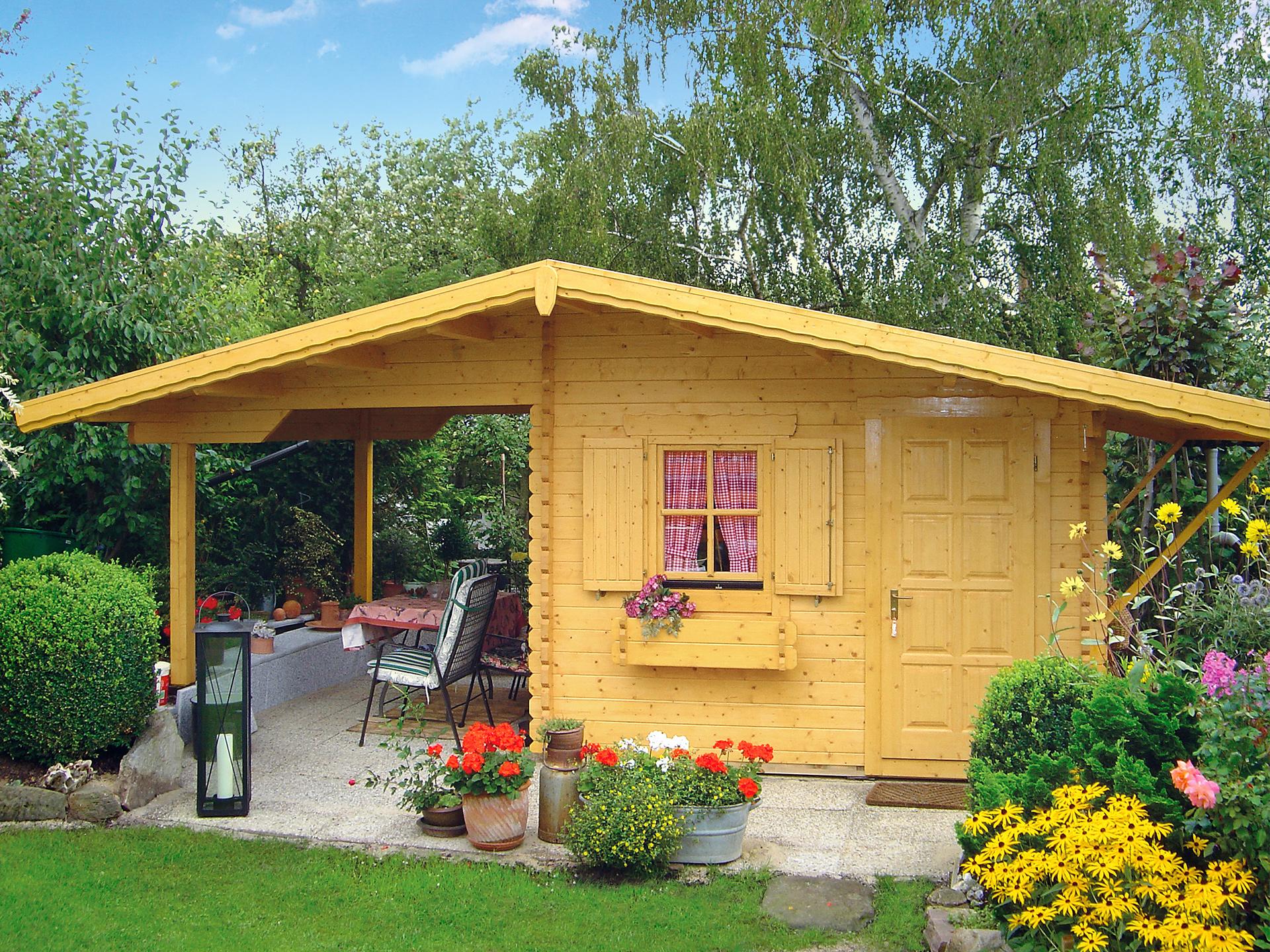 Bild von Gartenhaus mit Freisitz SOMMER