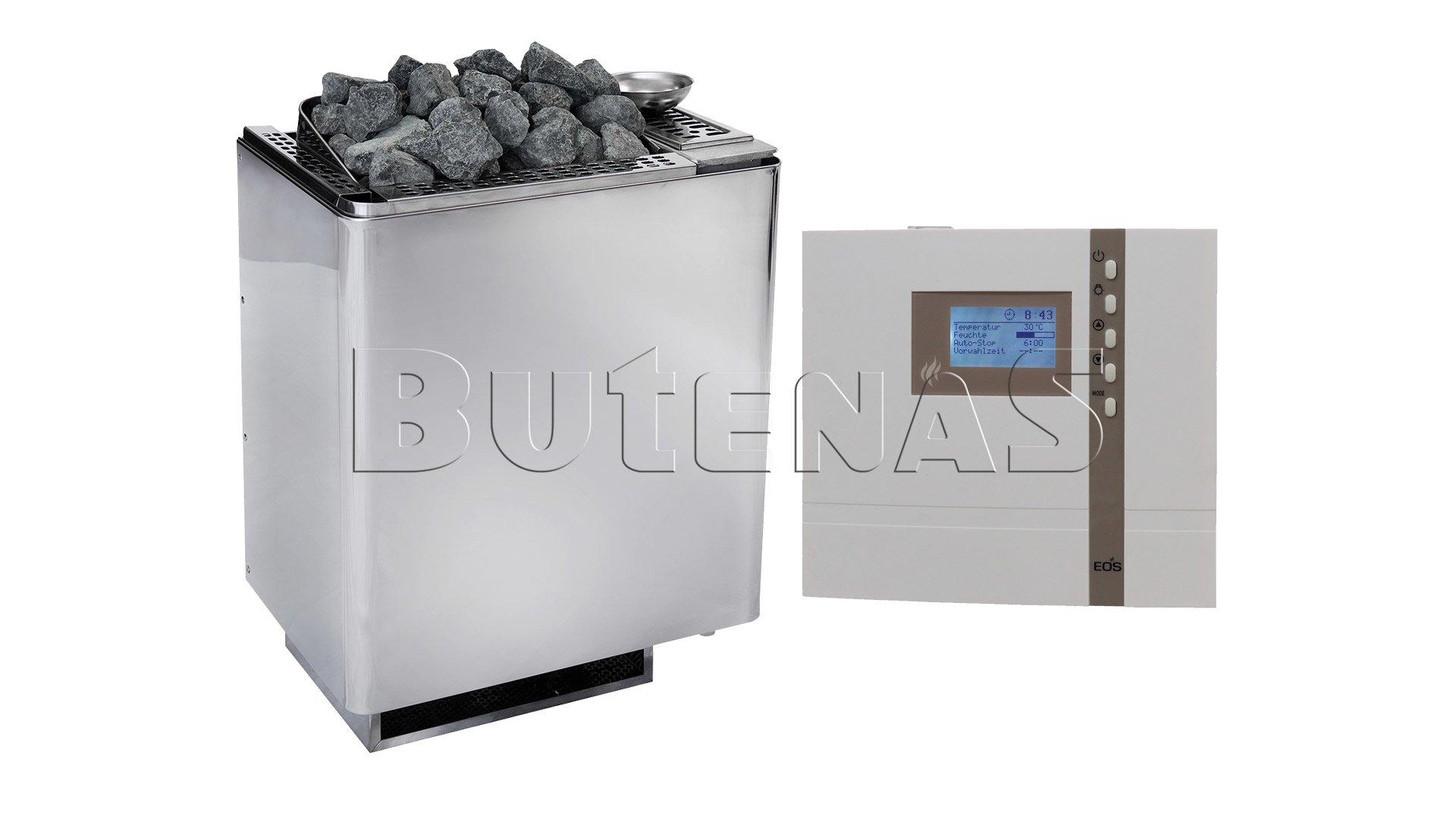 Bild von Butenas EOS Saunaofen Set - BIO-Kombiofen Bi-O Mat Premium 9kW mit ECON H2