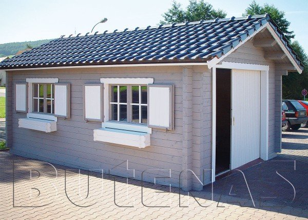 Exklusive Holz- Garage