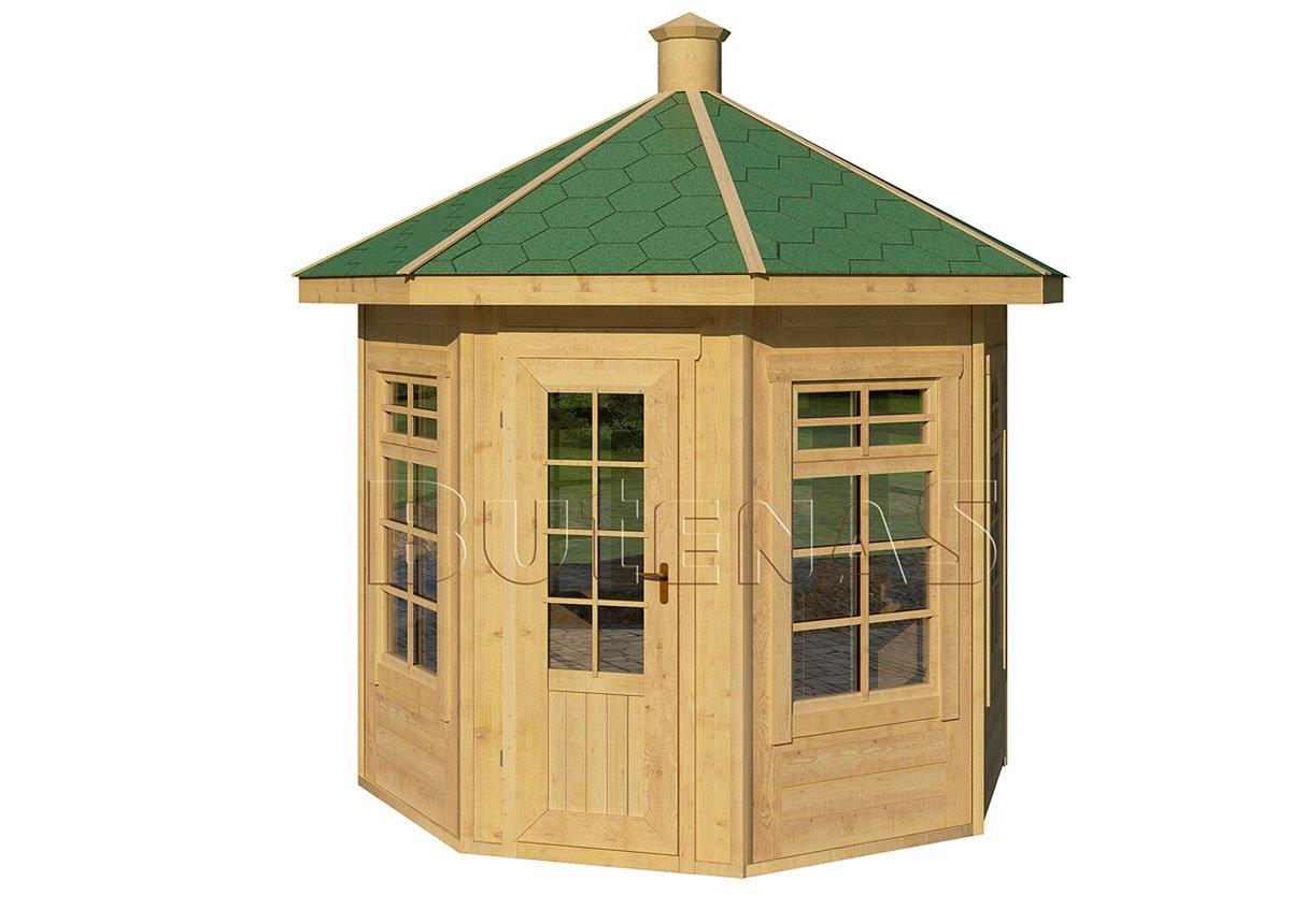 pavillon aus holz gro e hochwertige exklusive auswahl butenas. Black Bedroom Furniture Sets. Home Design Ideas