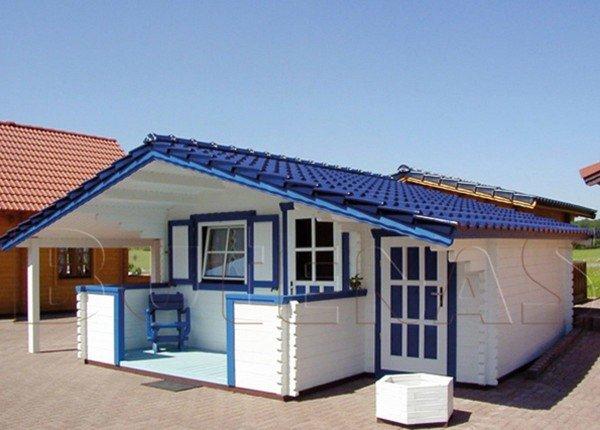 Gartenhaus mit Terrasse, Anbau und Schleppdach: NIDA TAS | Butenas
