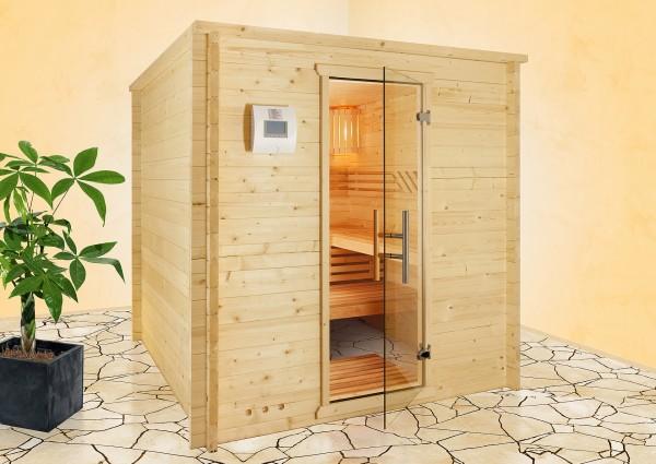 Sauna - Massivholz-Sauna OSLO-10