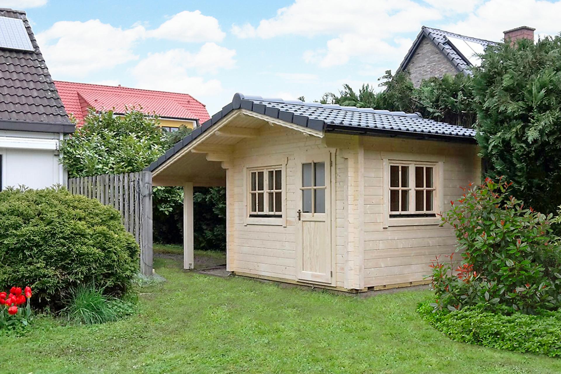 Gartenhaus mit Schleppdach - Typ NIDA S | Butenas